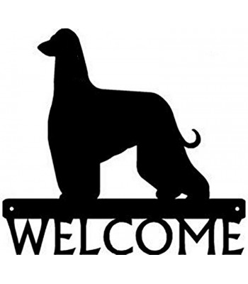 Afghan Hound Dog Welcome Sign