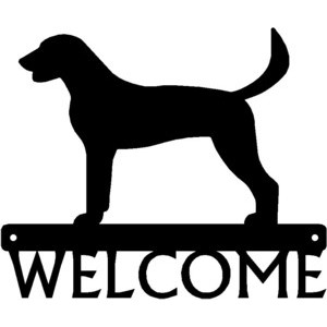 American Foxhound Dog Welcome Sign