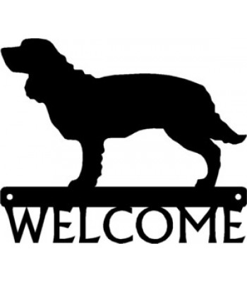 American Water Spaniel Dog Welcome Sign
