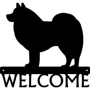 American Eskimo Dog Welcome Sign
