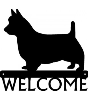 Australian Terrier Dog Welcome Sign