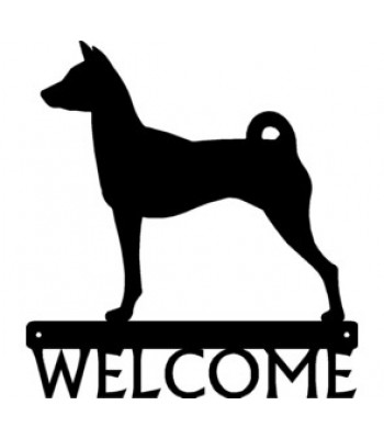 Basenji Dog Welcome Sign