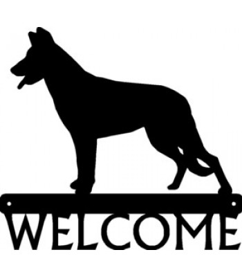 Beauceron Dog Welcome Sign
