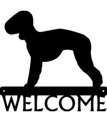 Bedlington Terrier Dog Welcome Sign