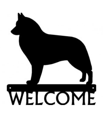 Belgian Sheepdog/ Groenendael Dog Welcome Sign