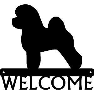 Bichon Frise Dog Welcome Sign