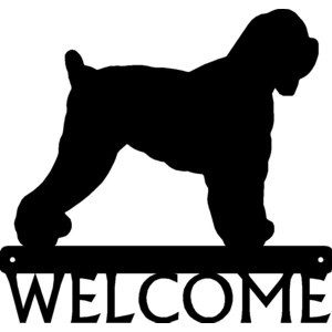 Black Russian Terrier Dog Welcome Sign