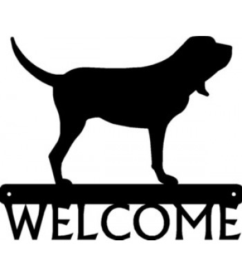 Bloodhound Dog Welcome Sign