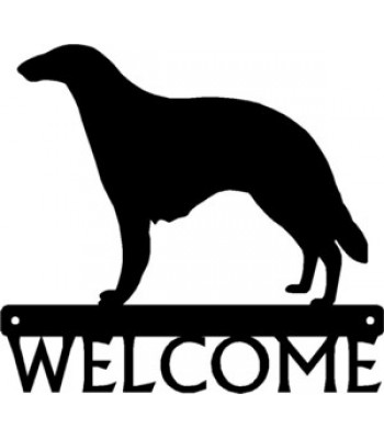 Borzoi Dog Welcome Sign