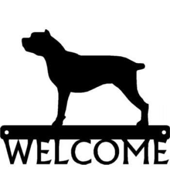 Cane Corso Dog Welcome Sign