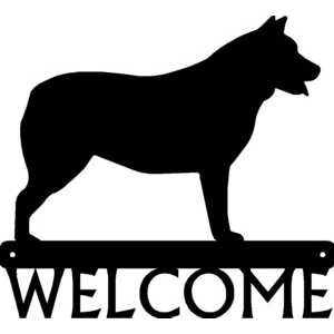 Cattle Dog - Dog Welcome Sign