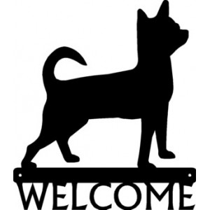 Chihuahua Dog Welcome Sign