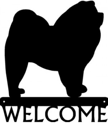 Chow Chow Dog Welcome Sign