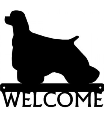 Cocker Spaniel Dog Welcome Sign
