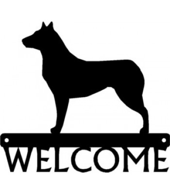 Collie Smooth Coat Dog Welcome Sign