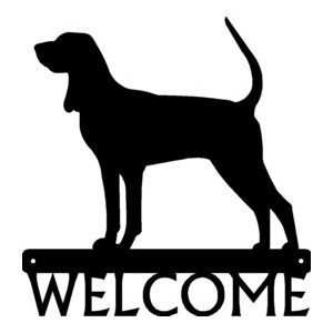 Coonhound Dog Welcome Sign