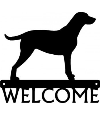 Curly Coated Retriever Dog Welcome Sign