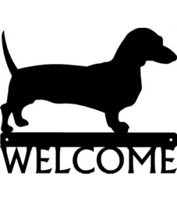 Dachshund Dog Welcome Sign