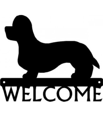 Dandie Dinmont Terrier Dog Welcome Sign
