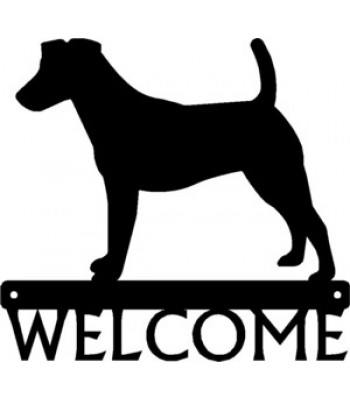 Fox Terrier Dog Welcome Sign