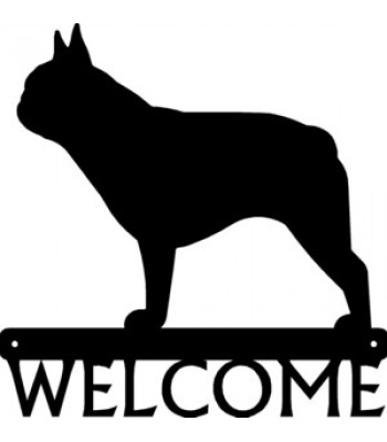 French Bulldog Dog Welcome Sign