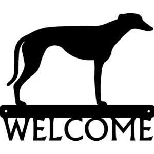 Greyhound Dog Welcome Sign