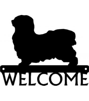 Havanese Dog Welcome Sign