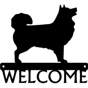 Icelandic Sheepdog Dog Welcome Sign