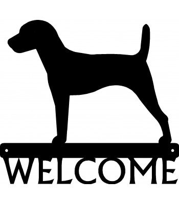 Jack Russell Dog Welcome Sign