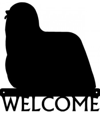 Komondor Dog Welcome Sign