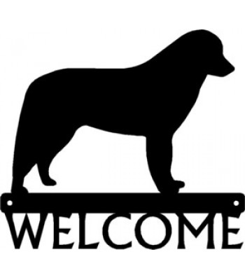 Kuvasz Dog Welcome Sign
