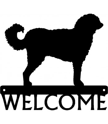 Labradoodle Dog Welcome Sign