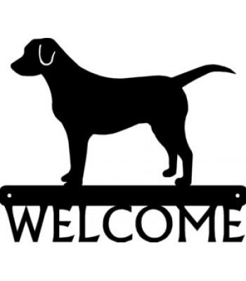 Labrador Retriever Dog Welcome Sign