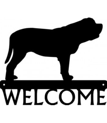 Mastiff Dog Welcome Sign