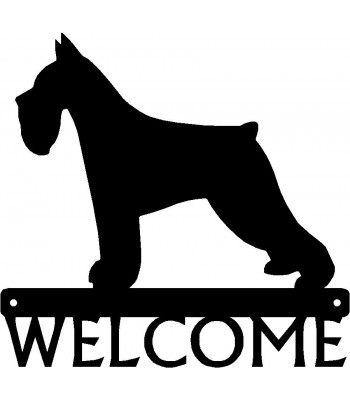 Miniature Schnauzer Dog Welcome Sign