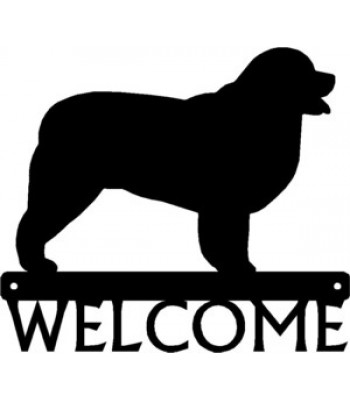 Newfoundland Dog Welcome Sign