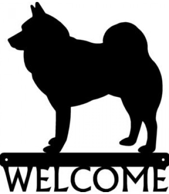 Norwegian Elkhound Dog Welcome Sign