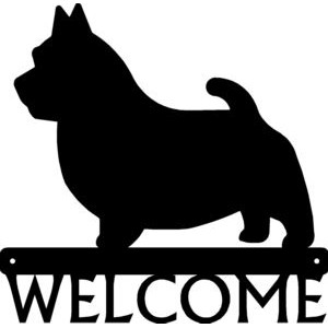 Norwich Terrier Dog Welcome Sign