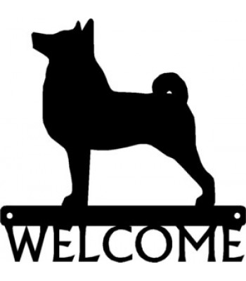 Norwegian Buhund Dog Welcome Sign