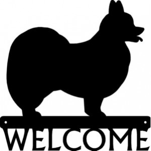 Papillon Dog Welcome Sign