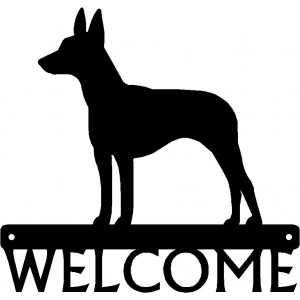 Rat Terrier Dog Welcome Sign