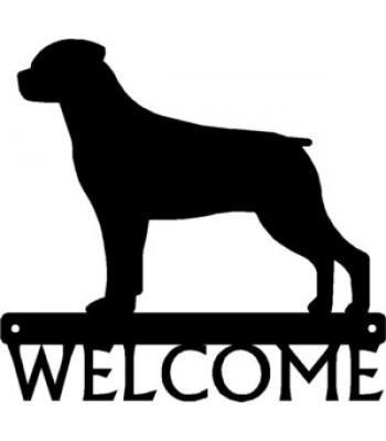 Rottweiler Dog Welcome Sign