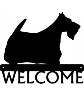 Scottish Terrier Dog Welcome Sign