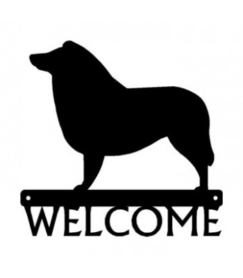 Sheltie (Shetland Sheepdog) Dog Welcome Sign