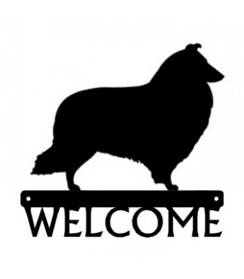 Sheltie #2 (Shetland Sheepdog) Dog Welcome Sign