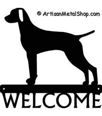 Vizsla Dog Welcome Sign