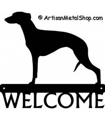 Whippet Dog Welcome Sign