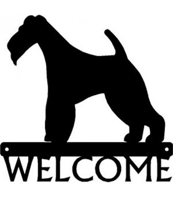 Wire Fox Terrier Dog Welcome Sign