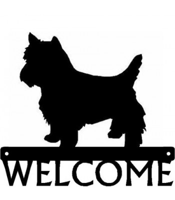 Yorkshire Terrier (Trimmed Yorkie) Dog Welcome Sign