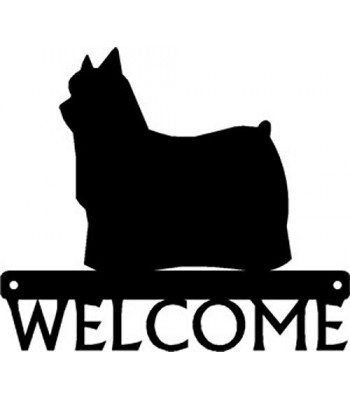 Yorkshire Terrier (Yorkie) Dog Welcome Sign